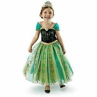Anna Princess Dress Queen Cosplay Costume Children Party Dress