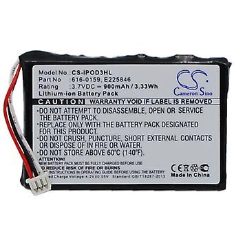 Battery for Apple iPOD 3rd 3 Gen 40GB 30GB 616-0159 E225846 High Capacity 900mAh