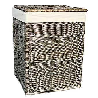 Small Antique Wash Square Laundry Basket