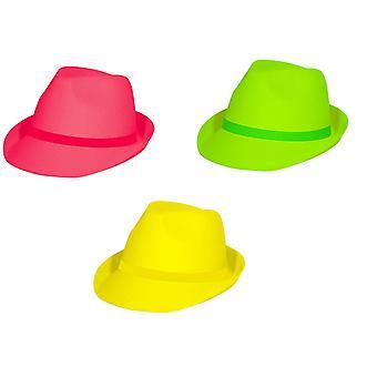 Néon de chapeau de néon Tribly a néon style Perry nuits 80 s 90 s Hat