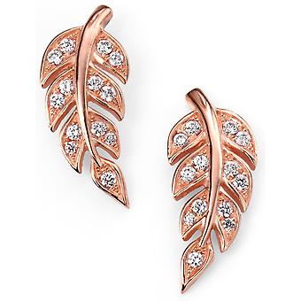 925 Silver Gold Plated Flower And Zirconium Earring Trend