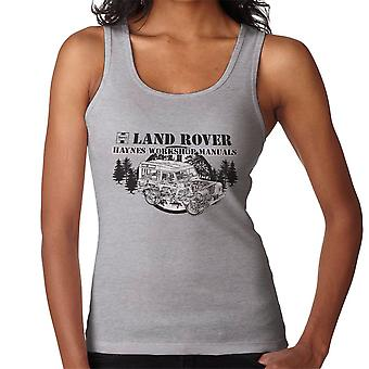 Haynes Owners Workshop Manual Land Rover Forest Black Women's Vest