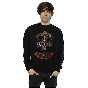 Guns N Roses Men's Appetite for Destuction Distressed Sweatshirt