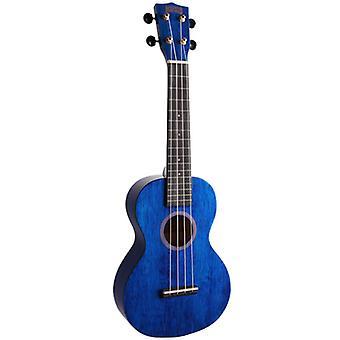 Mahalo Blue Hano Concert Ukulele - Aquila Strings & Free Bag
