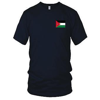 Jordan Country National Flag - Embroidered Logo - 100% Cotton T-Shirt Kids T Shirt