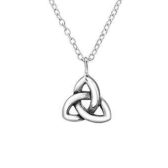 Celtic Knot - 925 Sterling Silver Plain Necklaces - W30871x