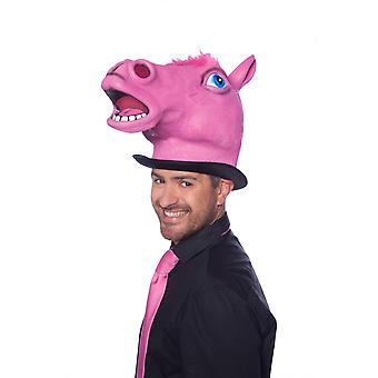 Cavalo a máscara cavalo máscara Máscara animal rosa látex cavalo máscara