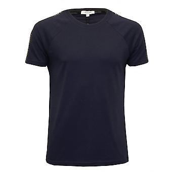 Calvin Klein Logo Tape avslappet Crew-hals t-skjorte, Navy