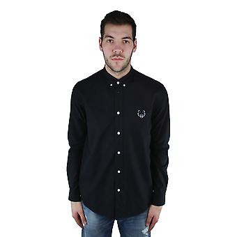 Kenzo F855CH4001LB 99 negro Casual camisa