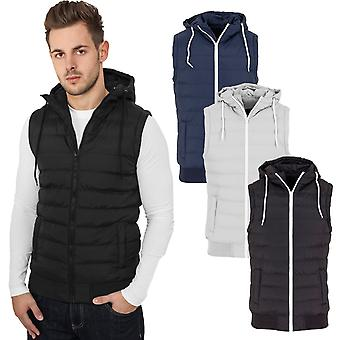 Urban classics - HOODED SMALL BUBBLE quilted vest