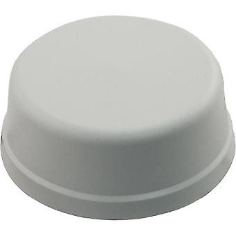 "Herga 6439-0001 0.25"" HS 2.56"" FD Mushroom Air Button without Tubing - White"