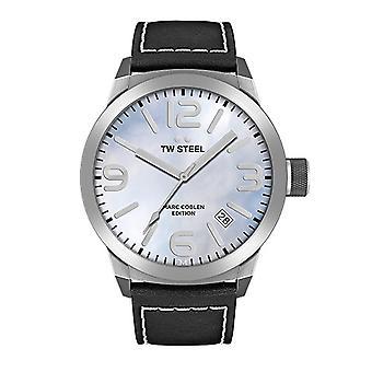TW acero reloj Marc Coblen edición TWMC2 pulsera reloj cuero