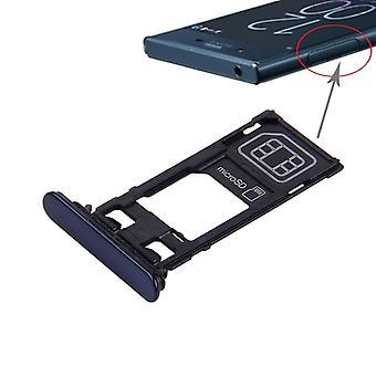 MicroSD carica Jack cover guarnizione tappo blu scuro Sony Xperia XZ (single)