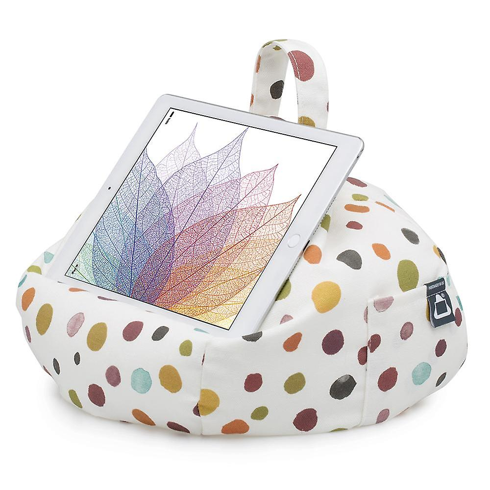Ipad, tablet & ereader bean bag stand by ibeani - polka dot whitby