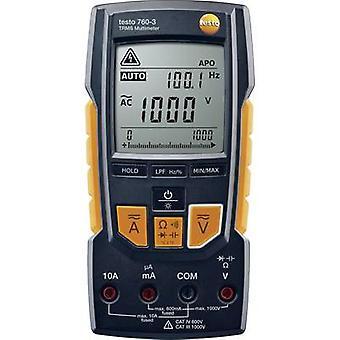 testo 760-3 Handmultimeter Digital CAT III 1000 V, CAT IV 600 V Display (Anzahl): 6000