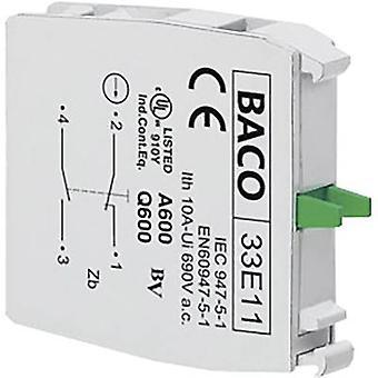BACO 33E11 contact 1 BREEKHAMER, 1 Maker kortstondige 600 V 1 PC (s)
