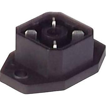 Hirschmann 932 092-106 G 4 A 5 M inbouw Connector met flens en soldeer contacten grijs aantal pinnen: 4