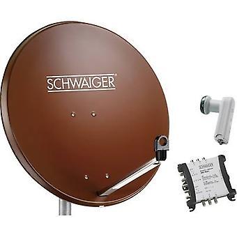 Schwaiger SPI9962SET5 SAT system w/o mottagaren antal deltagare 6 80 cm