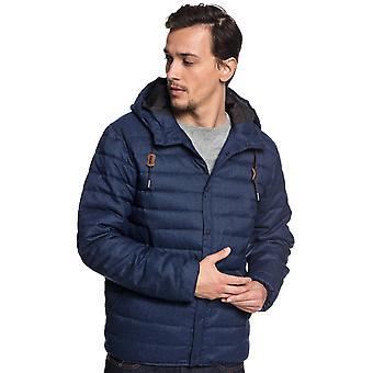 中世の青いヒースのQuiksilverスカラーウールジャケット