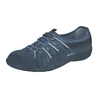 Unità di Skechers raggiante Leather Womens scarpe da camminata - grigio