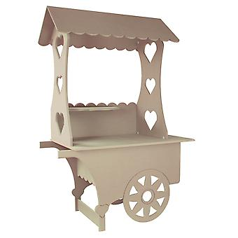 Candy Cart Weddings Sweets Stall Birthday Christening Favours Stand MDF Wood