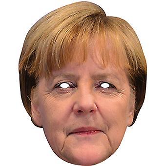 Angela Merkel beroemdheid gezicht kaart masker