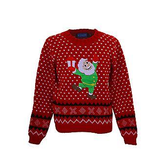 Kinder aus Gewirken XMAS Weihnachten festlich Santa Schnee Mädchen aztekische Sweater Pullover