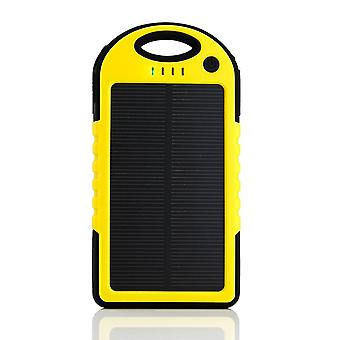 Stuff Certified® External 5000mAh Solar Charger Power Bank Emergency Solar Battery Charger Yellow