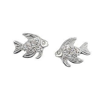 Scout children girl 262140100 glitter earrings silver fish