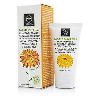 Apivita Eco-bio Baby & Kids Barrier Cream With Calendula & Zinc Oxide - 75ml/2.82oz