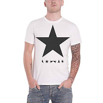 David Bowie, T Shirt Blackstar Logo Album Cover officiële Mens nieuwe wit