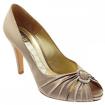 Magrit High Heel Peep Toe Buckle Court Shoe