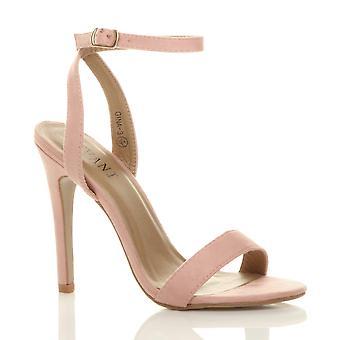 Ajvani kvinners høy hæl plattform ankelen stroppen knapt det strappy sandaler sko