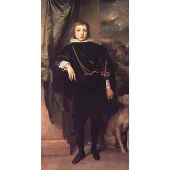 Prince Rupert seisovan muoto kuva, Anthony Van Dyck, 80x40cm