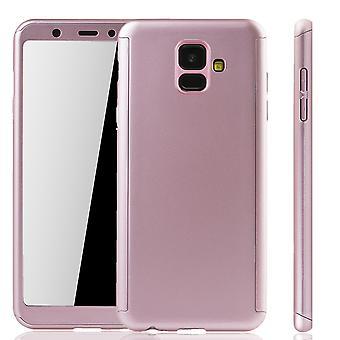 Samsung Galaxy A6 2018 mobilnych case-futerał pełne pokrycie zbiornik ochrony szkła Róża