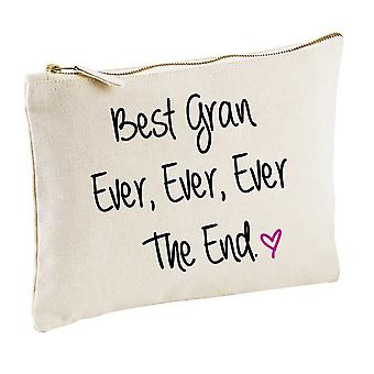 Best Gran Ever Ever Ever The End Natural Make up Bag