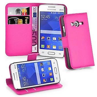 Cadorabo Case voor Samsung Galaxy ACE 4 LITE gevaldekking-telefoon geval met magnetische sluiting, stand functie en kaart geval compartiment-Case cover geval geval geval boek vouwen stijl
