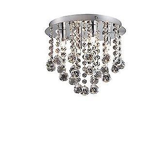 Ideal Lux - Bijoux mittlere Chrome & Kristall halb-spülen Einbau IDL089478