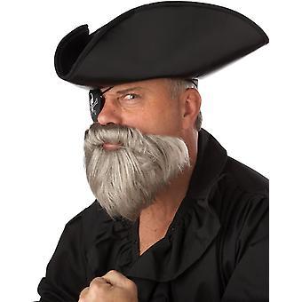 Capt baard/Stache grijs
