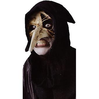 Halloween naamio venetsialainen korppi luun