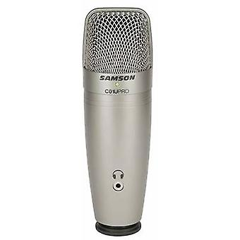 Samson C01UPro USB studio microphone Corded Stand, incl. cable
