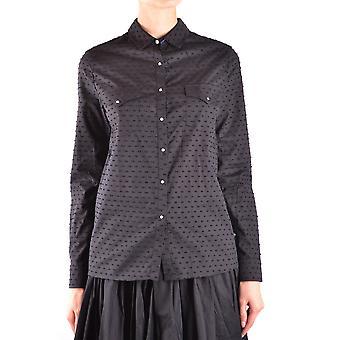 Jacob Cohen Ezbc054250 Frauen's schwarze Baumwolle Shirt