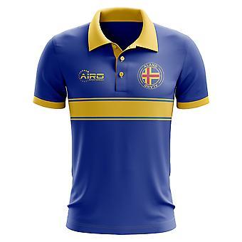 Koszulka Polo pasek koncepcja Aland (niebieski)