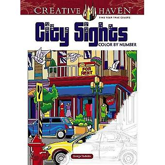 Creative Haven City Sights Color By Number by Creative Haven City Sig