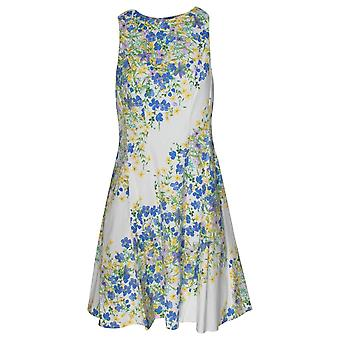 Maggy London Floral Print A Line Sleeveless Sun Dress