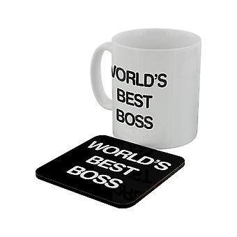 Grindstore World es Best Boss Becher & Untersetzer Set