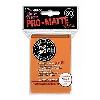 Ultra Pro Matte pequenas mangas de cartão-laranja