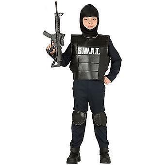 Pojat SWAT Team poliisi fancy mekko puku