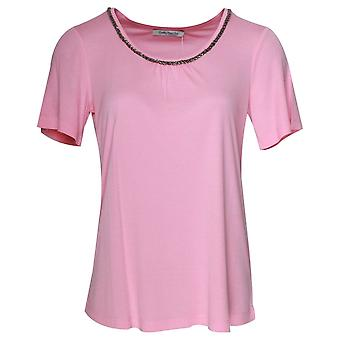 Betty Barclay Short Sleeve Round Neck Pink T-shirt