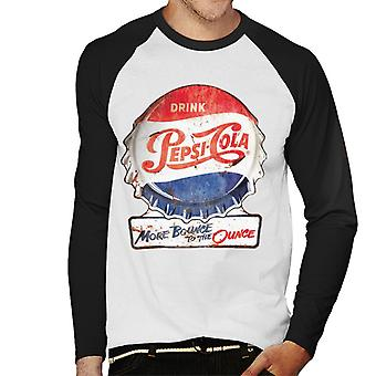 Pepsi Cola More Bounce To The Ounce Men's Baseball Long Sleeved T-Shirt